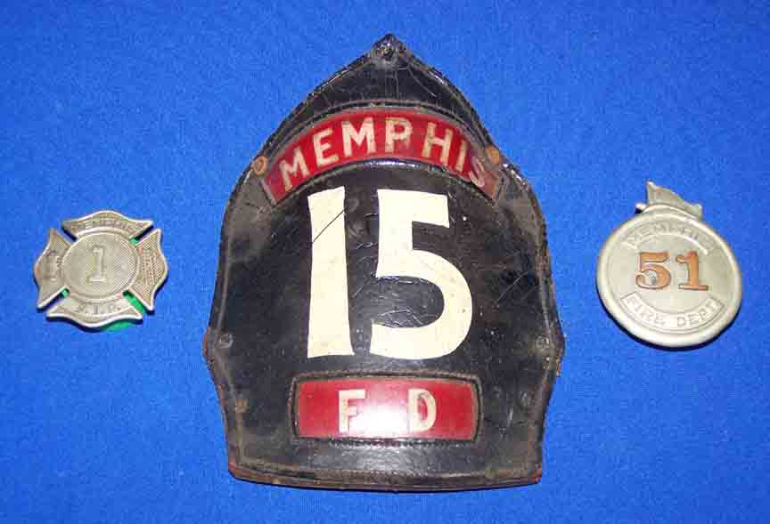 Vintage Leather Fire Helmet Front Pieces And Badges At
